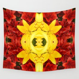 """""""A Gathering of Lilies"""" Remix - 1 (3-1) [D4465~12] Wall Tapestry"""