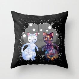 Artemis & Luna  Throw Pillow
