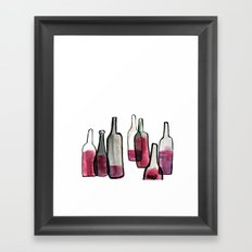 Wine Bottles 2 Framed Art Print