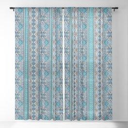 Grand Bazaar - Blue Sheer Curtain