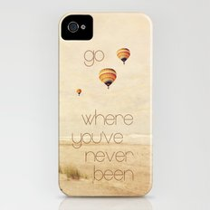 go where you've never been iPhone (4, 4s) Slim Case