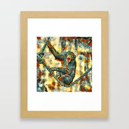 AnimalArt_Chimpanzee_20170901_by_JAMColorsSpecial Framed Art Print