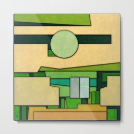 Abstract Cubist 3 Metal Print