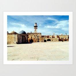 Temple Mount, Old City of Jerusalem Art Print