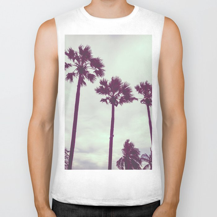 Cali Palm trees Biker Tank