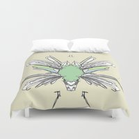 insect Duvet Covers featuring INSECT PROJECT by  ECOLARTE