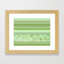 GRAPHIC POP - pastell green Framed Art Print
