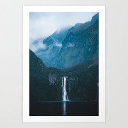 Majestic Milford Sound Art Print