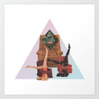 workout Art Prints featuring Cosmic Workout by Bopha & Gabe