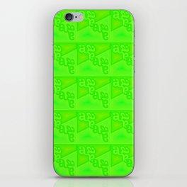 a - pattern green iPhone Skin