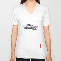bmw V-neck T-shirts featuring BMW CSL Turbo by Remove Before . . .