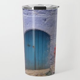Chefchaouen Morocco Fire Hydrant and Door Travel Mug