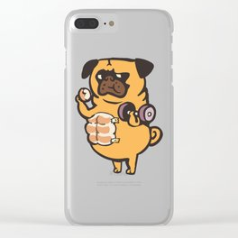 Bread Roll Pug Abs Clear iPhone Case