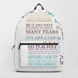 DESIDERATA prose 1 Backpack
