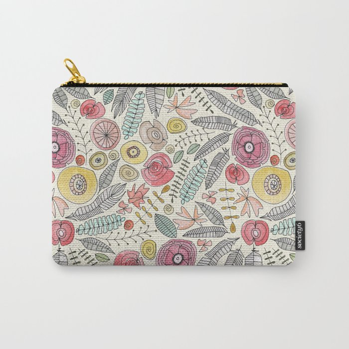 feather fleur watercolor Carry-All Pouch