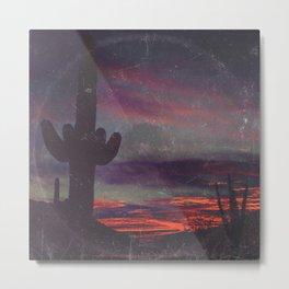 Darkness In The Desert - America As Vintage Album Art Metal Print