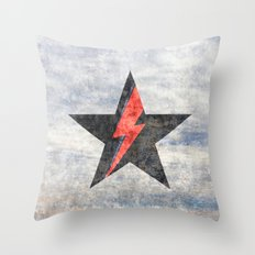 BlackStarMan (waiting in the sky) Throw Pillow