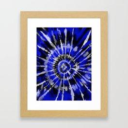 Dark Blue Tie Dye Framed Art Print