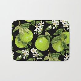 Blooming pomelo with fruits Bath Mat