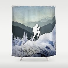 Winter Mountains Shower Curtain