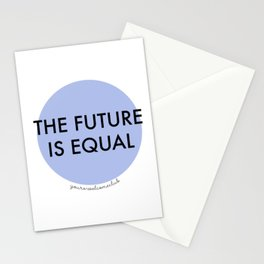 The Future is Equal - Blue Stationery Cards