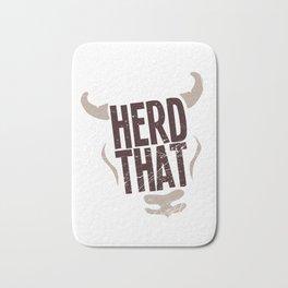 Cow Herd That Cattle Gift Bath Mat