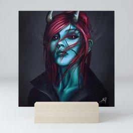 Dark sexy evil Mini Art Print