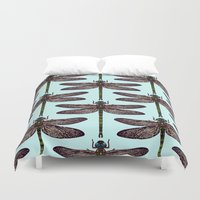 dragonfly Duvet Covers featuring dragonfly by Sharon Turner