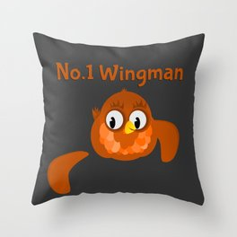No.1 Wingman | Broken Wing Throw Pillow