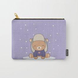 Kawaii Cute Winter Bear Carry-All Pouch