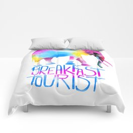 Breakfast tourist Comforters