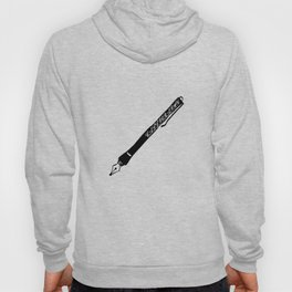 Calligraphy Style Writing Ink Pen Visual Art Hoody