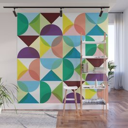 Geometric Pattern 3 (colorful circles) Wall Mural