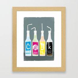 CMYK BOTTLES Framed Art Print