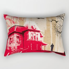 Psycho movie art print Rectangular Pillow