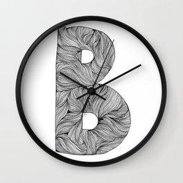 Hand Drawn Font B Wall Clock