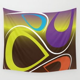 Teardrop Abstract Wall Tapestry