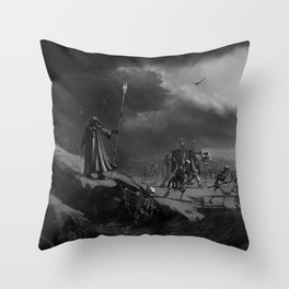 March of the Necromancer Throw Pillow