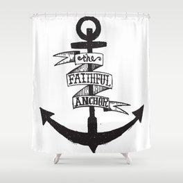 The Faithful Anchor Shower Curtain