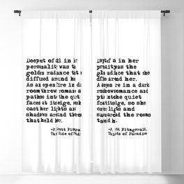 Deepest of all - Fitzgerald quote Blackout Curtain