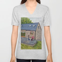 Ferns Barn, Herefordshire Unisex V-Neck