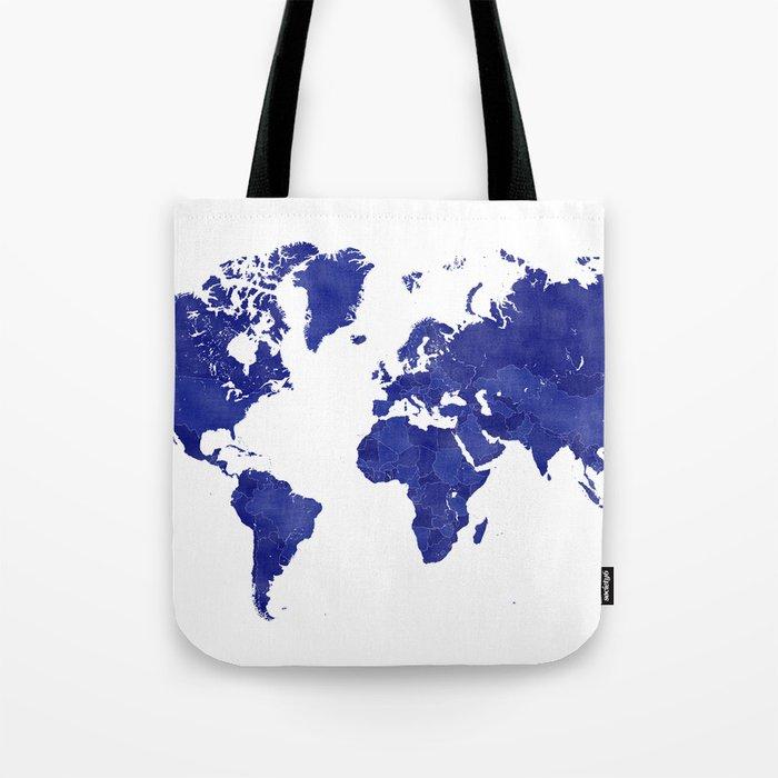 Vintage navy blue world map Tote Bag by blursbyaishop on wwii map bag, travel bag, german map bag, korean map bag, military map bag, poster bag, russian map bag, italian map bag, vintage compass, world map bag, leather map bag,