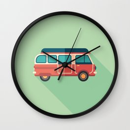 Retro Minivan Wall Clock
