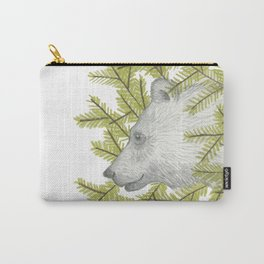 Bear Peaking Out of the Pines Carry-All Pouch