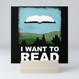 I Want to Read Mini Art Print