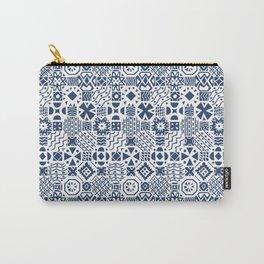 Indigo tiles Carry-All Pouch