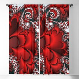 Red Sweetheart Fractal Blackout Curtain