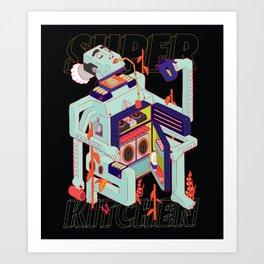 Super Kitchen 2 Art Print