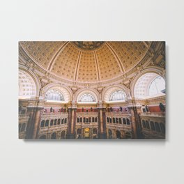 Main Reading Room - Library of Congress Metal Print