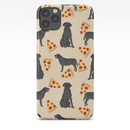 Black Lab pizza cute funny dog breed pet pattern labrador retriever iPhone Case